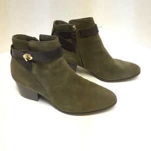 Coach Patricia Suede Ankle Bootie women's 7.5